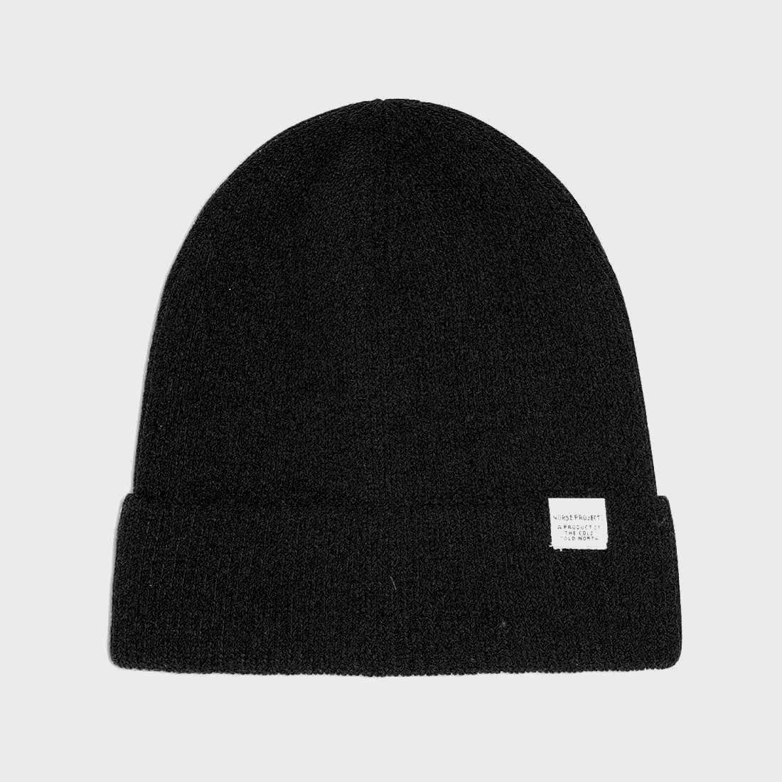 Norse Projects Cotton Watch Beanie Black