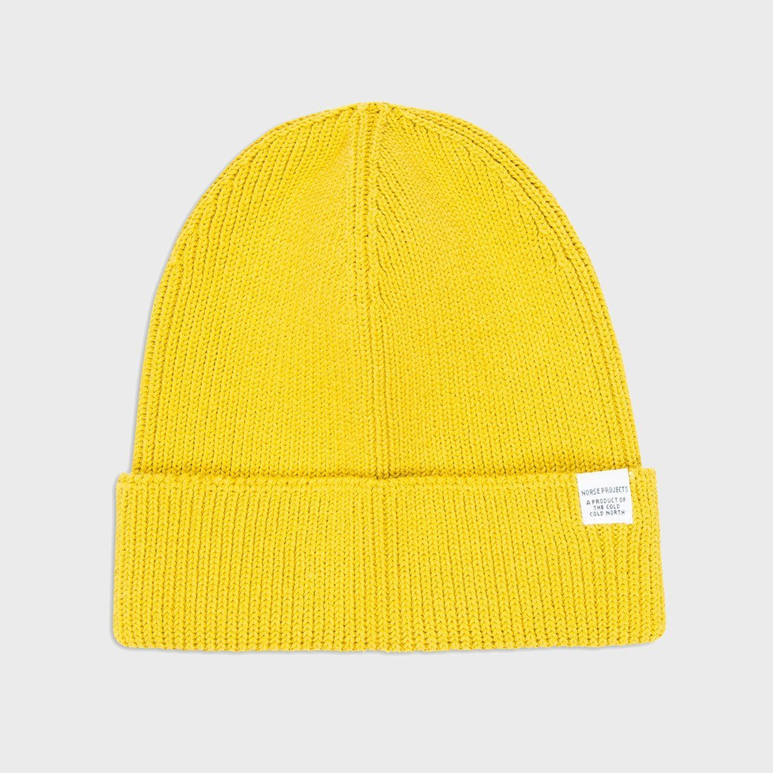 Norse Projects Cotton Watch Beanie Edge Yellow