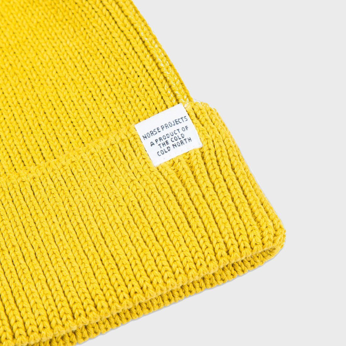 35f12a76 Norse Projects Cotton Watch Beanie Edge Yellow