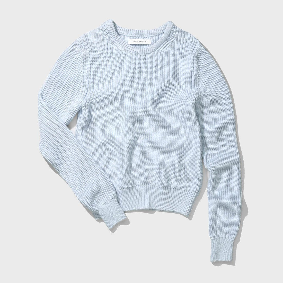 Norse Projects Helle Cotton Sweater Pale Blue
