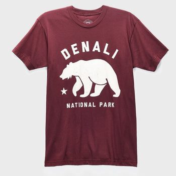 product: Parks Project Denali Bear Tee Maroon