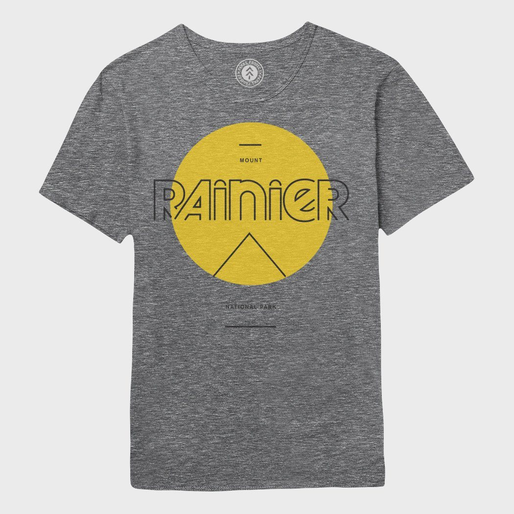 Parks Project Rainier Mod Sun T-shirt Heather Grey
