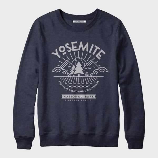 product: Parks Project Yosemite Valley View Fleece Sweatshirt Navy