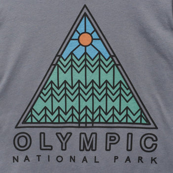 product: Parks Project Olympic Pyramid Tee Charcoal