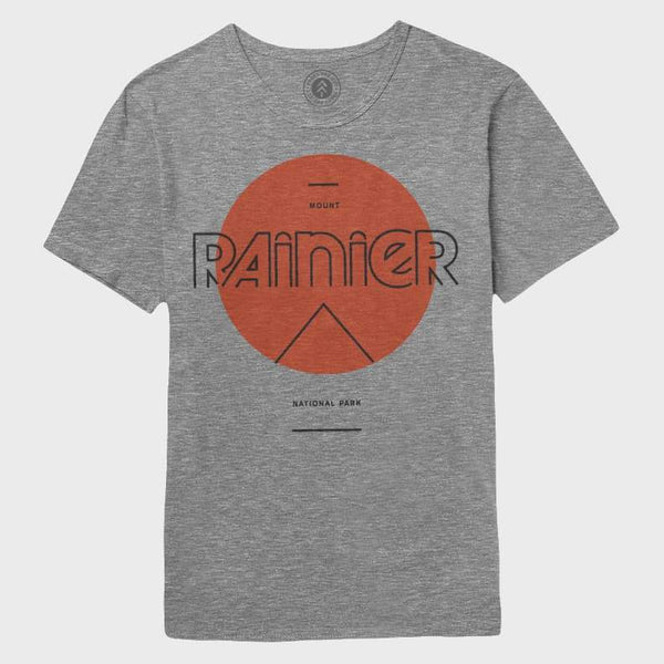 product: Parks Project Rainier Mod Sun Tee Heather Grey / Red