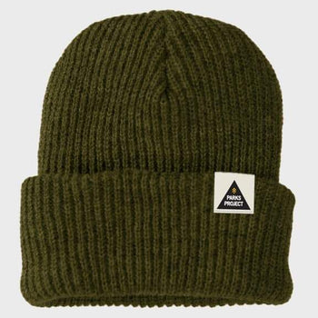 product: Parks Project Parks Triangle Beanie Olive
