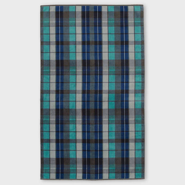 product: Pendleton Oversized Jacquard Towel Original Surf Plaid Ocean