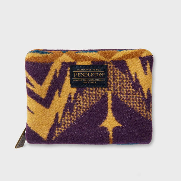 product: Pendleton Mini Accordian Wallet Echo Peaks Purple