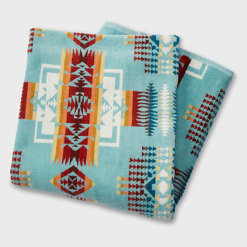 product: Pendleton Oversized Jacquard Towel Aqua