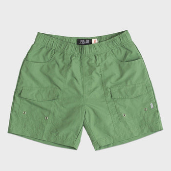 product: Poler Camp Volley Short Lime