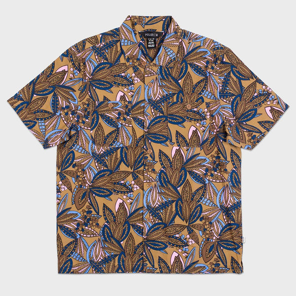 product: Poler Jurassic Park S/S Woven Brown