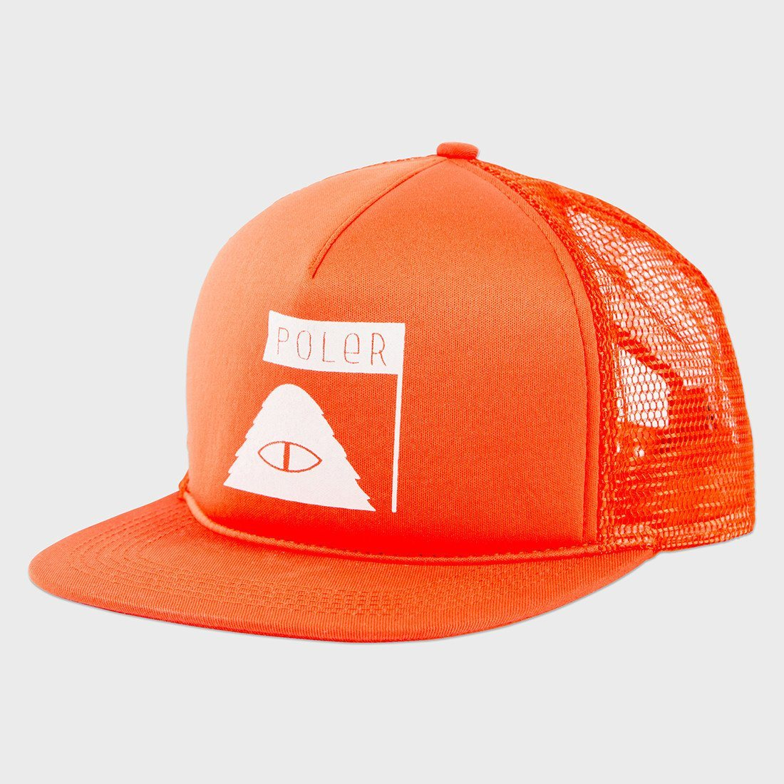 Poler Summit Mesh Trucker Hat Burnt Orange