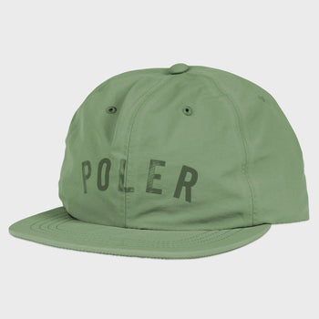 product: Poler Taped Nylon Hat Floppy Olive
