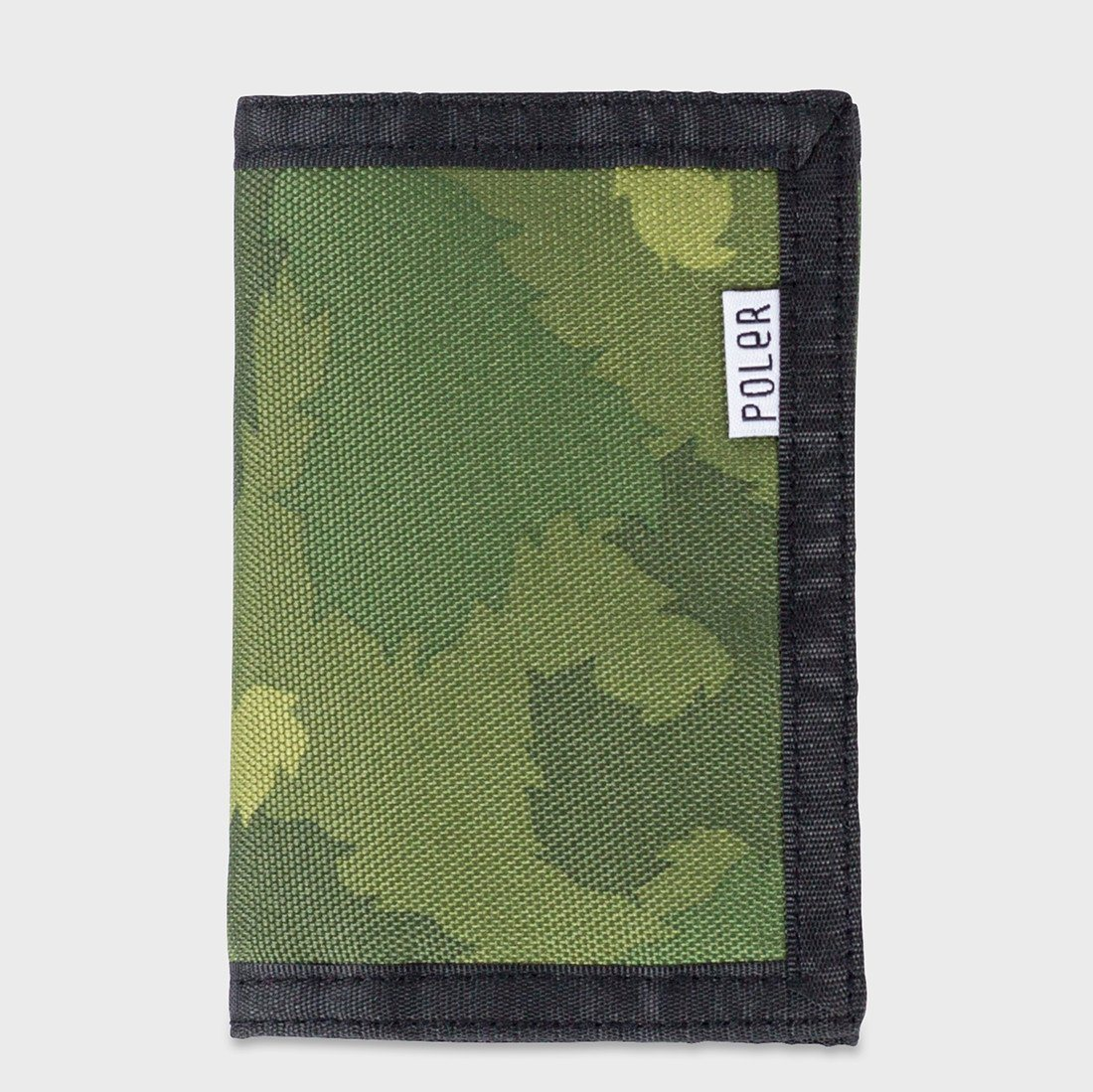 Poler Tri Fold Wallet Green Furry