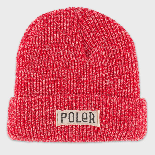 product: Poler Workerman Beanie Red Heather