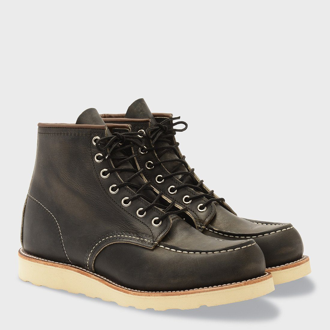 Red Wing 6 Inch Classic Moc Boot Charcoal Rough Tough