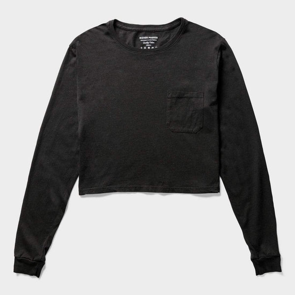 product: Richer Poorer Cropped Long Sleeve T-Shirt Black