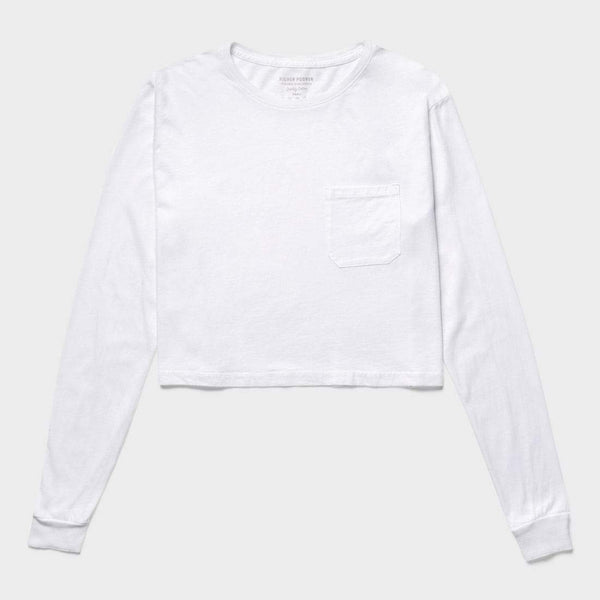 product: Richer Poorer Cropped Long Sleeve T-Shirt White