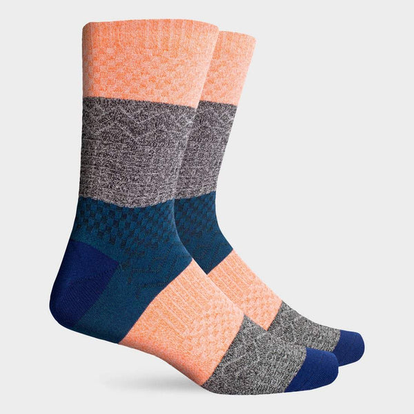 product: Richer Poorer Gilgamesh DC Crew Sock Pink Navy
