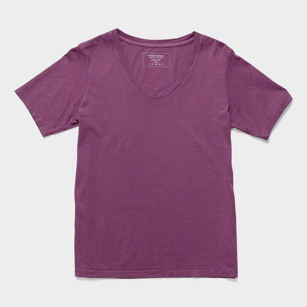 product: Richer Poorer Women's Scoopy V T-Shirt Plum