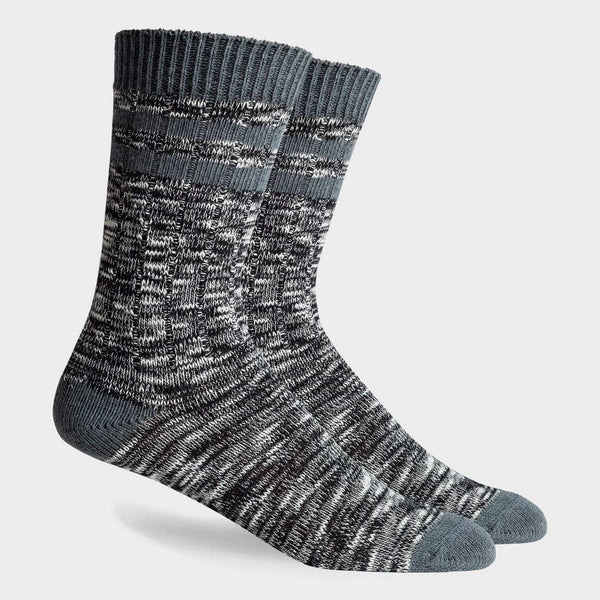 product: Richer Poorer Stitcher Textured Sock Black Charcoal