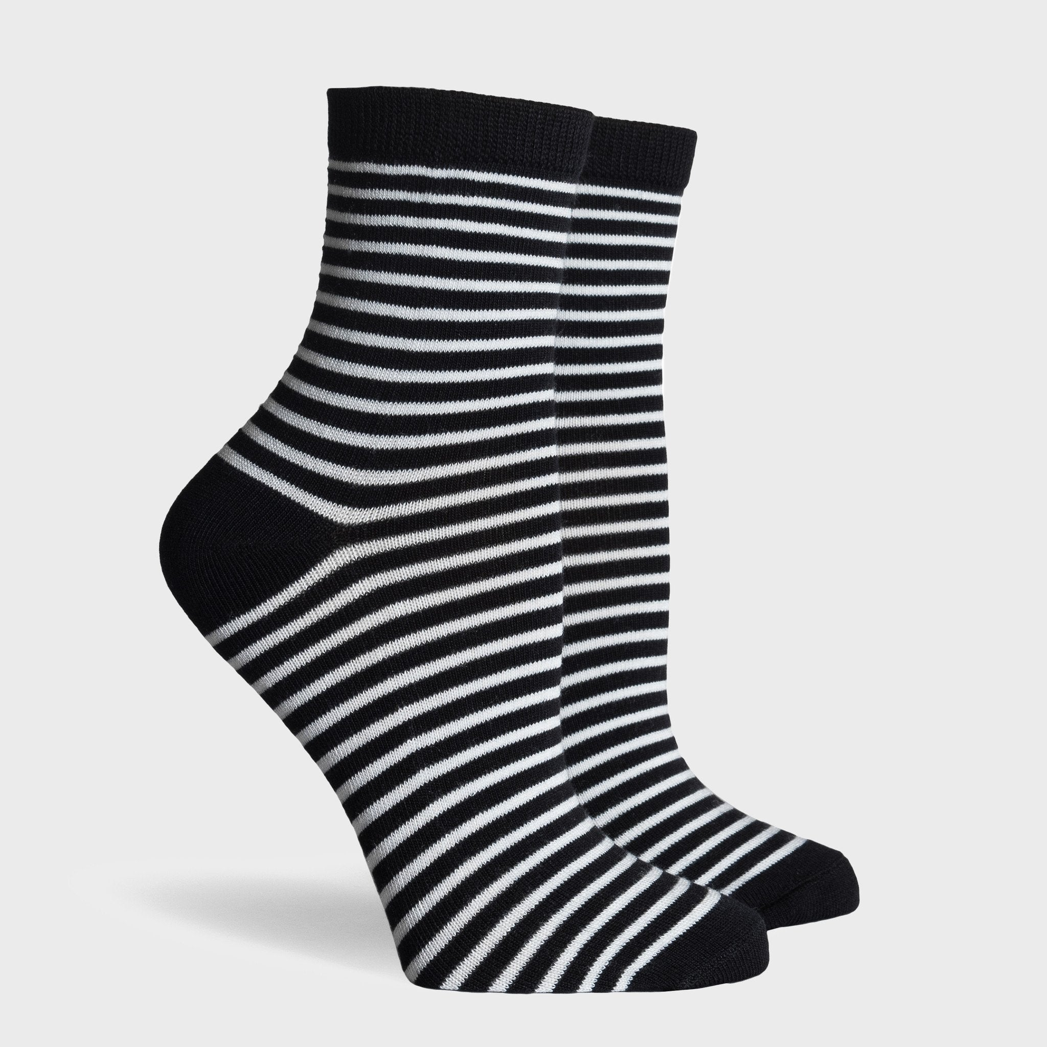 Richer Poorer Skimmer Socks Black/White