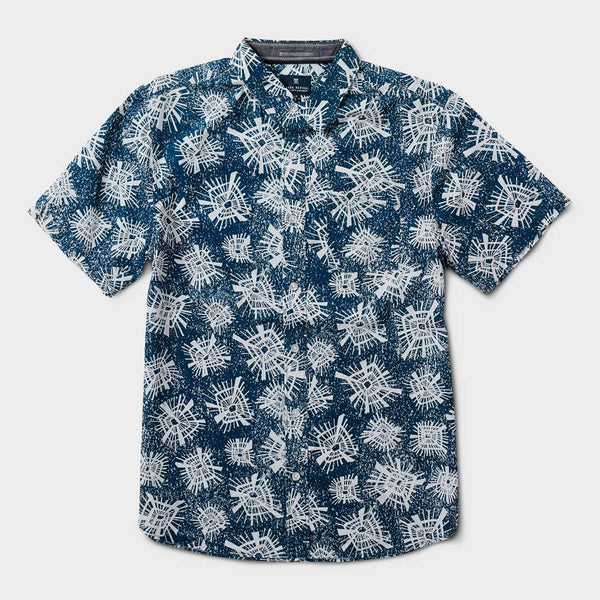 product: Roark Mighty Diamond SS Woven Navy