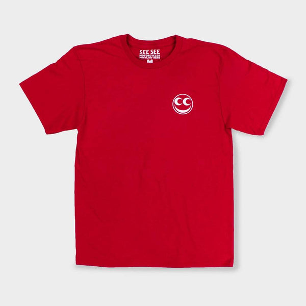 product: See See Motorcycles Chrome Sunset T-Shirt Red