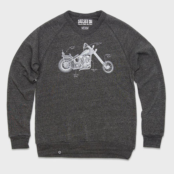 product: See See Motorcycles Moto Anatomy Sweater Black
