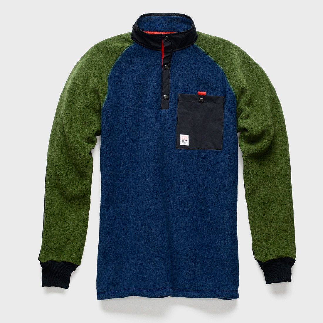 TOPO Designs Mountain Fleece Navy/Olive