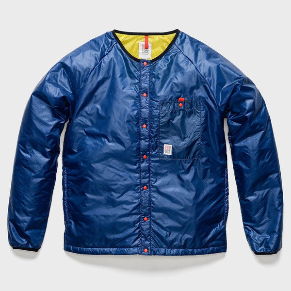 product: TOPO Designs Puffer Cardigan Navy