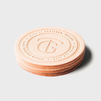 product: Tanner Goods Tanner Coaster Set Natural