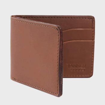 product: Tanner Goods Utility Bi Fold Wallet Caramel