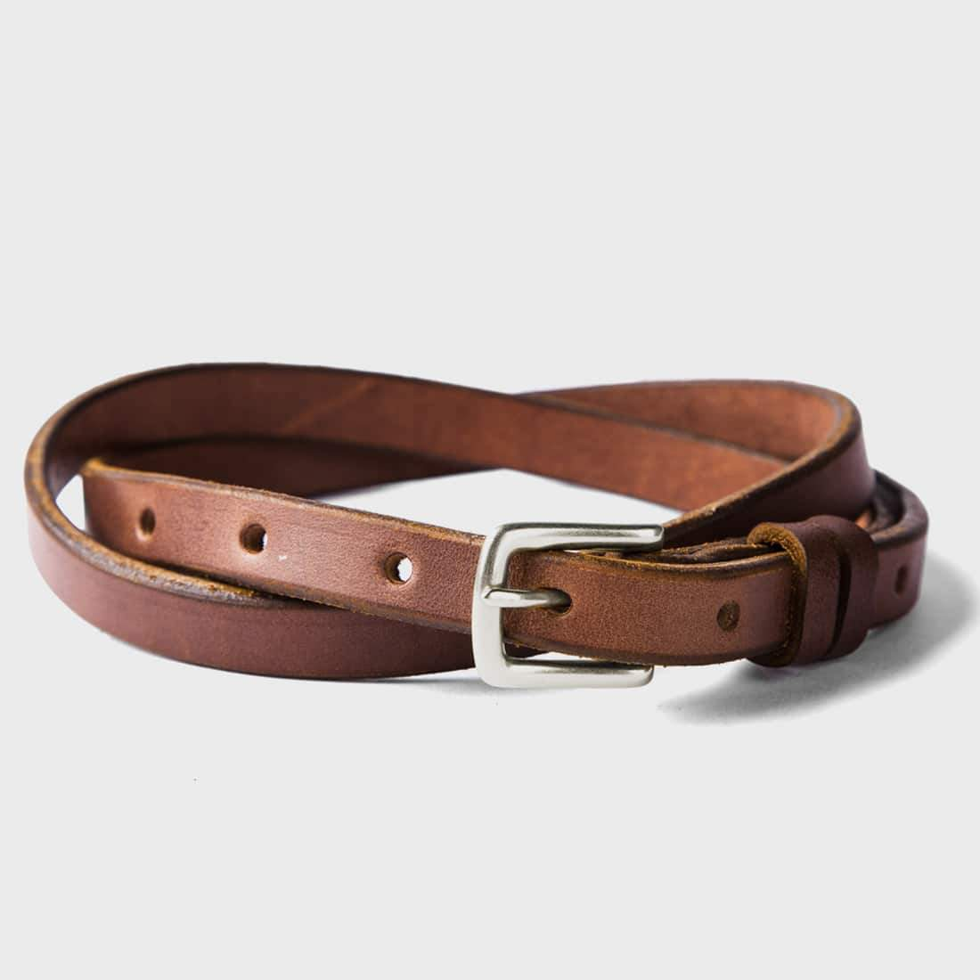 Tanner Goods Narrow Belt Cognac