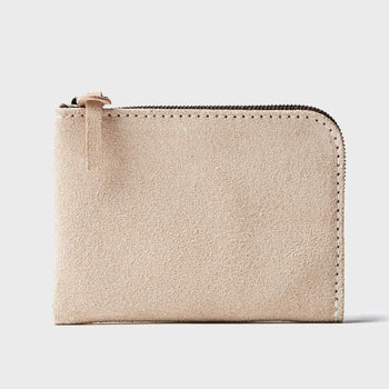 product: Tanner Goods Universal Zip Wallet Natural Roughout