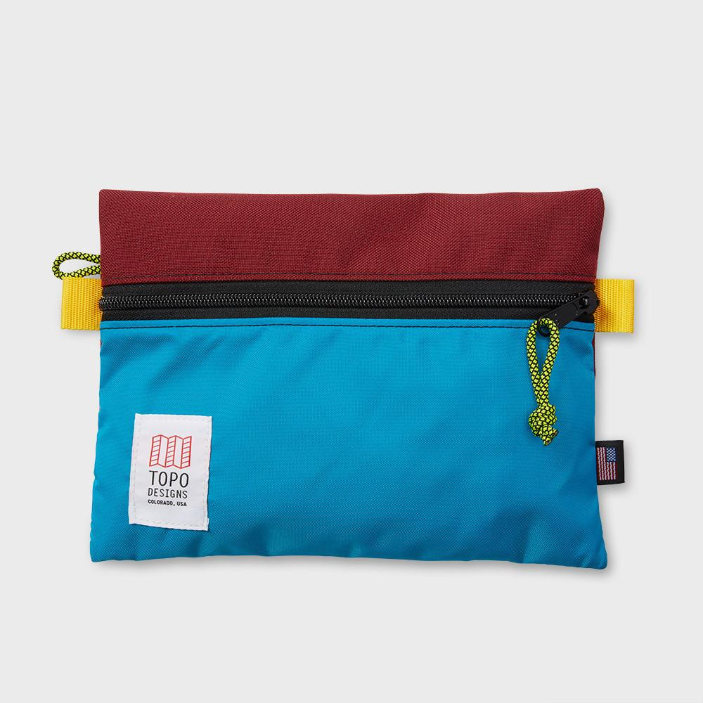 Topo Designs Accessory Bag Medium Burg/Aqua
