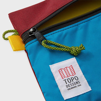 product: Topo Designs Accessory Bag Medium Burg/Aqua