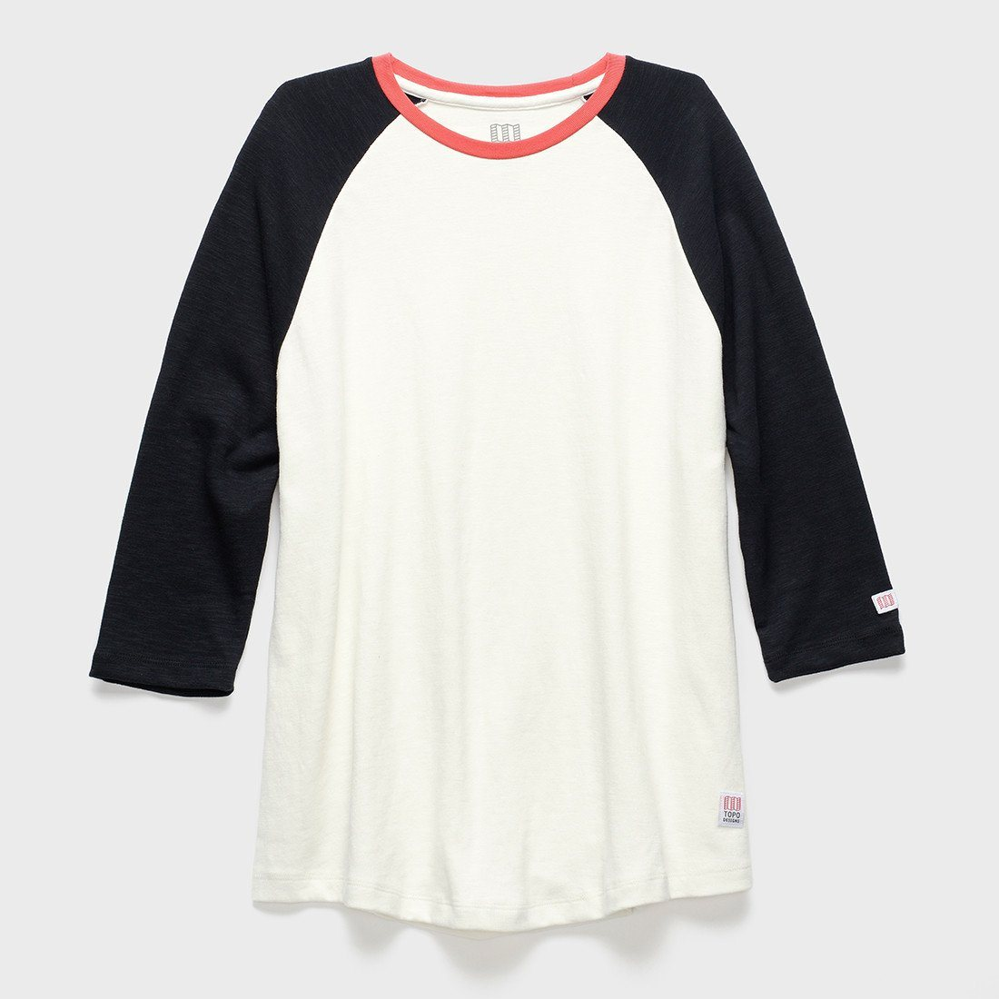 TOPO Designs Baseball T-shirt Natural/Black