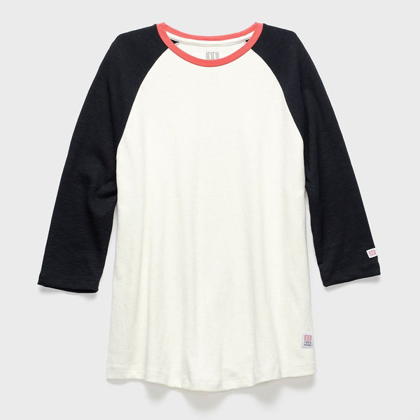 product: TOPO Designs Baseball Tee Natural/Black