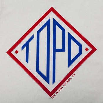 product: TOPO Designs Diamond Tee Natural