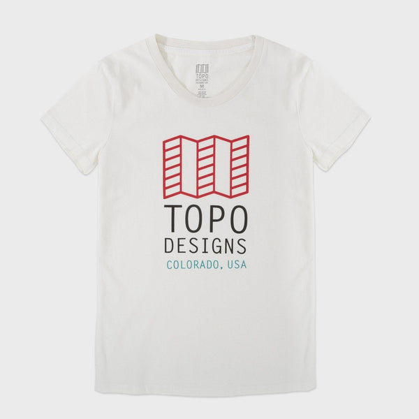 product: TOPO Designs Original Logo Tee Natural