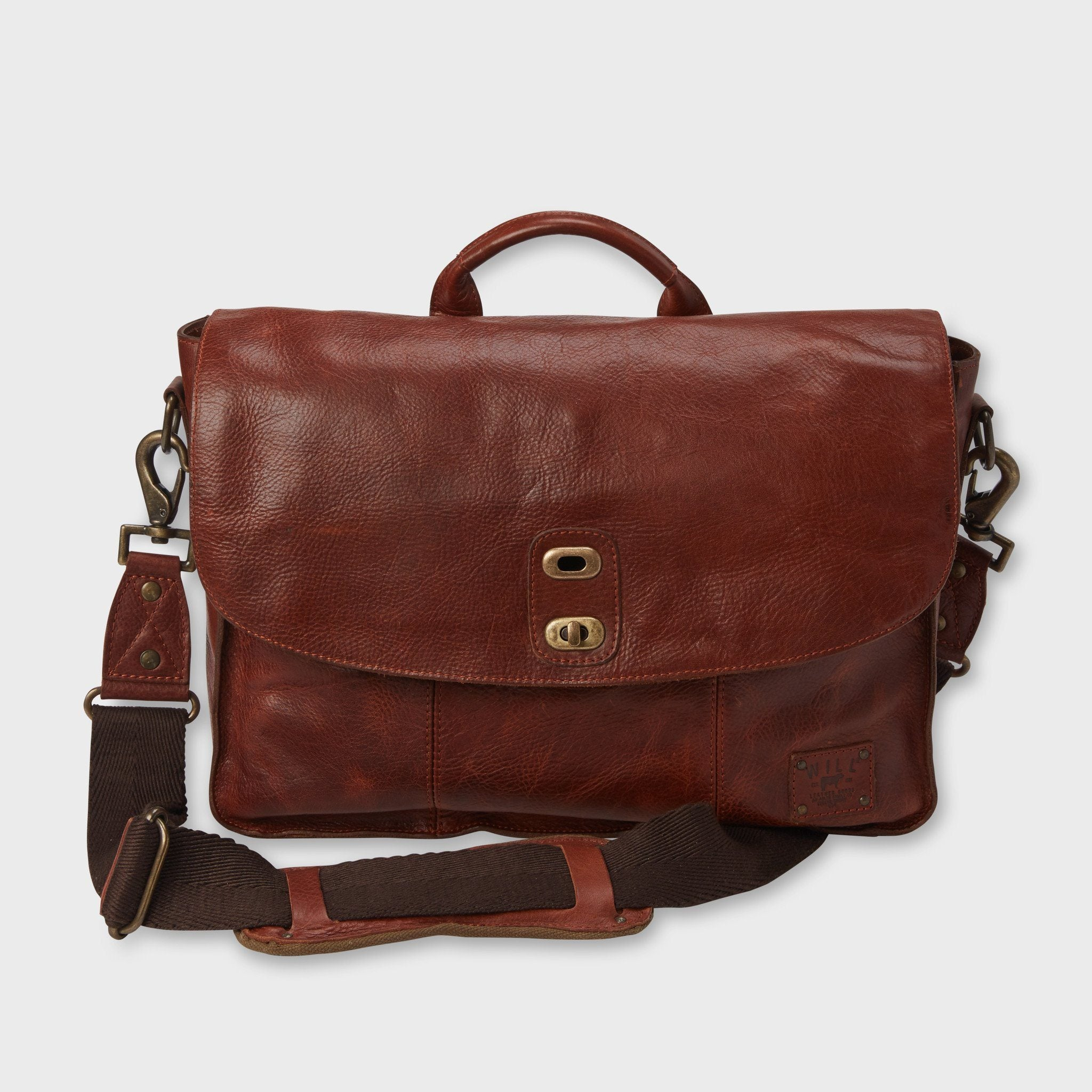 Will Leather Goods Kent Messanger Bag Cognac