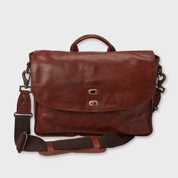 product: Will Leather Goods Kent Messanger Cognac