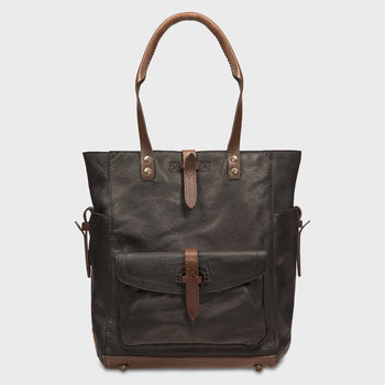 product: Will Leather Goods Ashland Tote Black