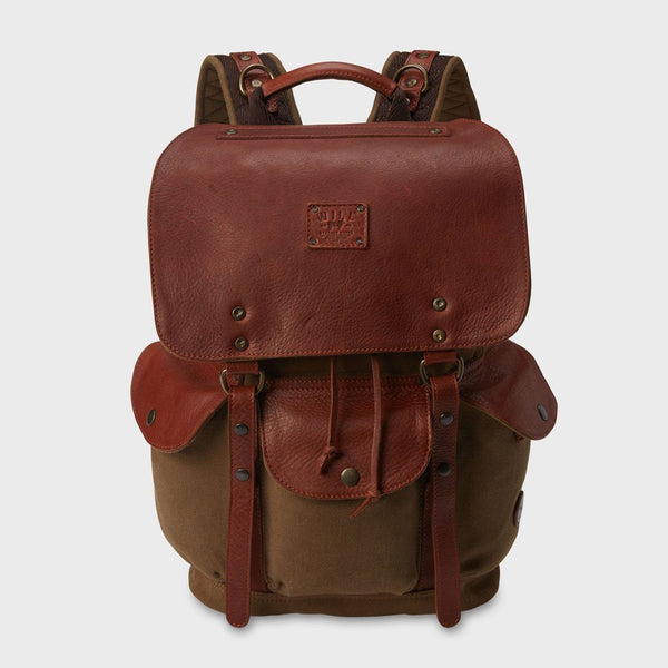 product: Will Leather Goods Lennon Backpack Tobacco