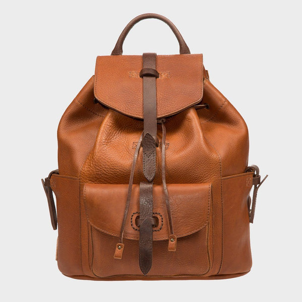 product: Will Leather Goods Ranier Backpack Tan