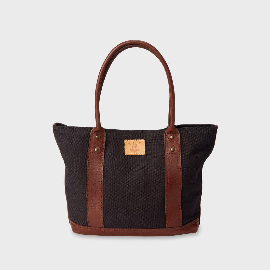 Will Leather Goods Signature Canvas & Leather Everyday Tote Black/Brown