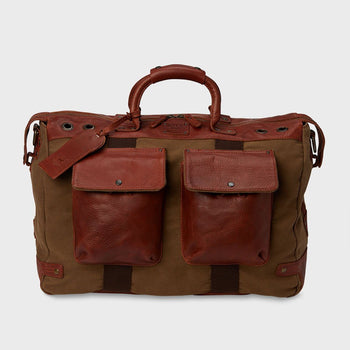 product: Will Leather Goods Traveler Duffle Tobacco
