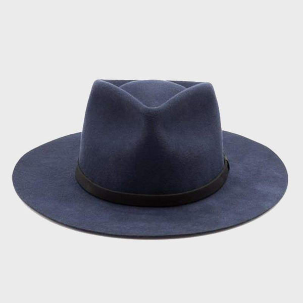 product: Yellow 108 Unisex Dylan Fedora Navy