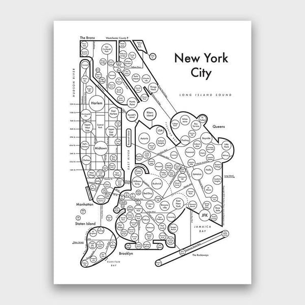 product: Archie's Press NY City Map Print
